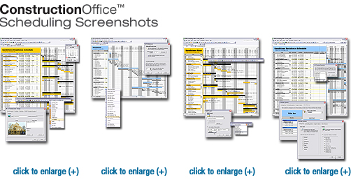 UDA Construction Office Scheduling Screenshots