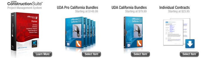 Uda California Construction Contracts Software Products Services