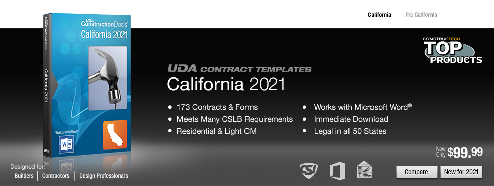 Uda Constructiondocs California Construction Contract Templates