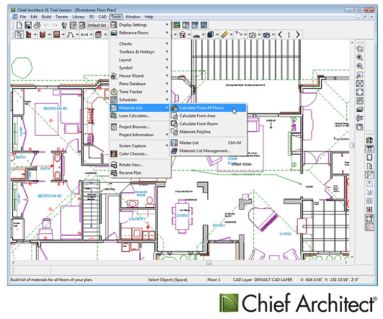 Chief architect premier x5 layout joy studio design for Architecture blueprint