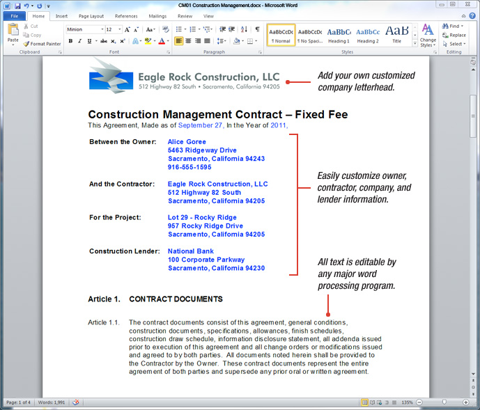 Uda Constructiondocs  Construction Management Contract Templates