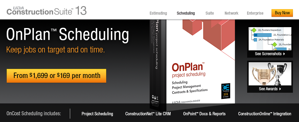 UDA Commercial OnPlan Scheduling Overview
