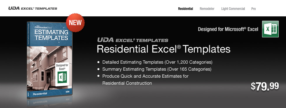 Construction estimate templates
