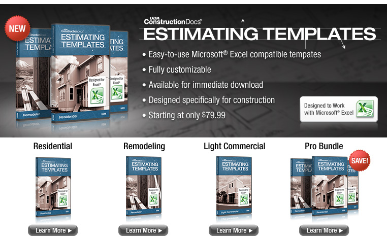 uda estimating construction estimating software