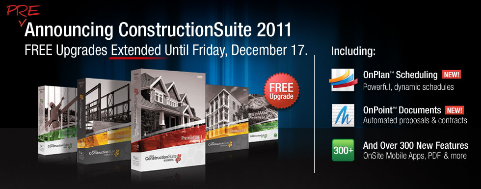 Free Upgrade to ConstructionSuite 2011