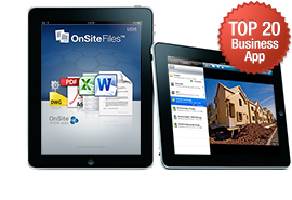 OnSite Files for iPad Vaults into Top 20 Business Apps