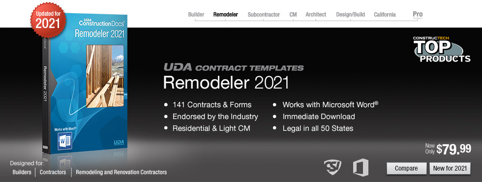 Uda Constructiondocs - Remodeling Contract Templates