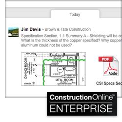 New ConstructionOnline™ RFI Tracking