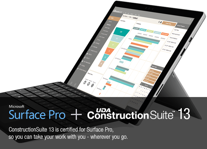 Microsoft Surface Pro Certified for UDA ConstructionSuite