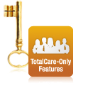 TotalCare Only Exclusive Features