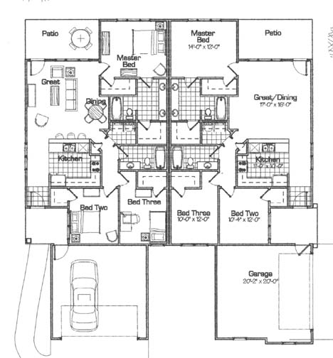 Corner lot duplex floor plans quotes quotes for Corner duplex designs
