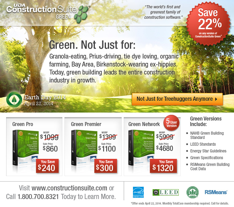 Save 22% on ConstructionSuite Green