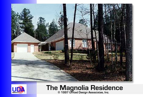 Left Side of Magnolia with Detached Garage